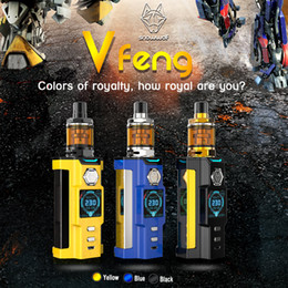 Wholesale Led Multi Color Kit - 100% Authentic SnowWolf Vfeng Starter Kits Snow Wolf 230W TC Box Mods 3ml Atomizer 1.30 Inch TFT Color LED Screen Update Sigelei Kaos kit