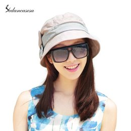 Wholesale Berets For Ladies - Wholesale-Summer Style Female Ladies Fashion Beret Sun Hat Sun Visor Cap Basin Polyester Hat For Women WG140474