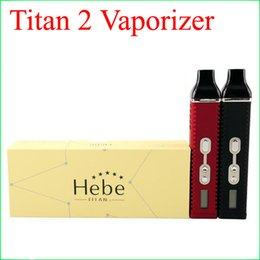 Wholesale Vaporizer Screens - Titan 2 Vaporizer Kit Hebe Dry herb Vaporizer Pen 2200mah With LED Display Screen Huge Vapor E Cigarette kits DHL free