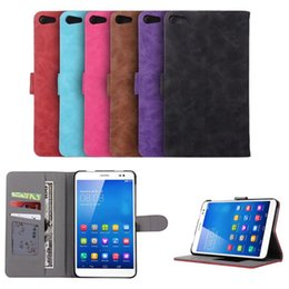 Wholesale Huawei Tablet Case - M2 Lite PLE-703L Business retro Ultra thin Filp leather Case cover For Huawei MediaPad T2 7.0 Tablet Cover with Card slot