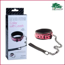 Wholesale Sex Collar Leashes - APHRODISIA PU Luxury Collar with Leash Fetish Collar Necklace Leather Neck Corset Adult Sex Toys For Couples Red Pink Black
