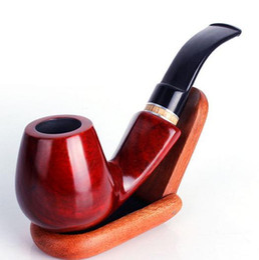 Tubo de tabaco de 9mm on-line-Atacado venda quente Acessórios de Fumar Red sandalwood tubos de tabaco curvo 9mm elemento de filtro 676
