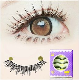 Wholesale Japan Fake Eyelash - japan natural lashes 30Pairs LOT Cotton Stem False eyelashes Crisscross 162# upper lash extension naked makeup eyelashes Curling lashes fake