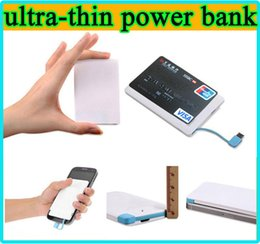 Wholesale Small Power Bank Chargers - Ultra-thin Portable 2600mAh Power bank 2600 mAh USB PowerBank External Battery Charger Backup Emergency Power Pack Light Weight Small Size