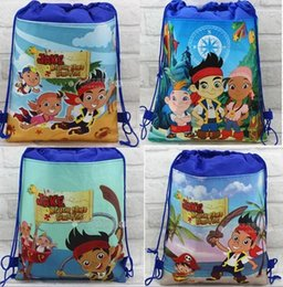 Wholesale Shopping Bags For Kids - 30pc Children's Cartoon bag JAKE Non-woven Drawstring backpack party School bag Shopping Bags Gift for Kid 4 Design KB12