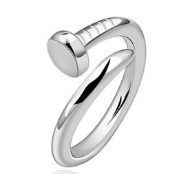 2019 spike d'argento d'oro Anelli di cerimonia nuziale del punto dell'argento sterlina di 30% 925 che aprono l'anello regolabile del chiodo per le fascini delle donne delle ragazze Anelli oro / argento / oro rosa / colore nero spike d'argento d'oro economici