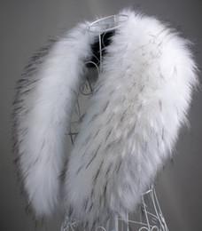 Wholesale Rabbit Fox Scarf - Wholesale-2015 autumn and Winter womens faux raccoon fur rabbit fox fur scarf big shawl clothing fur collar cape pashina winter scarf 90cm