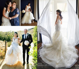 Wholesale Pink Tulle Layered Wedding Dress - 2017 New Arrival Lace Wedding Dresses Western Country Layered Tulle Appliques Mermaid Bridal Gowns Court Train Sweetheart Wedding Gowns