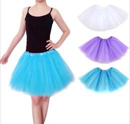 Wholesale Women Dancing Mini Skirts - Adults Girls Tutu Skirt Mini Dance Wear Pettiskirt Ballet Dancing Lace Dresses Bubble skirt Christmas Party Clothes Women Girls Dress