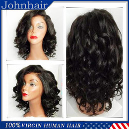 Wholesale African American Baby Hairstyles - African American Full Lace Wigs   Lace Front Human Hair Wigs With Baby Hair Loose Wave 8A Virgin Brazilian Wig For Black Women