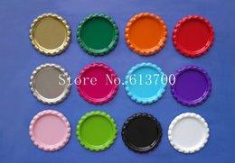 Wholesale Wholesale Bottlecap Jewelry - Wholesale-120 Pcs lot Colored 1'' Flattened Bottle caps Flat Sliver Bottlecap For Crafts & Jewelry Pendant Without Holes 12