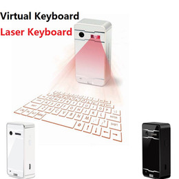 Wholesale Tablet Via Dhl - virtual laser keyboard with mouse bluetooth speaker for laptop iPad tablet pc smartphone via bluetooth connection with retail box by DHL