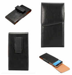 Wholesale Belt Buckle Covers - Universal Hip Holster Sheep Leather Flip Cover For Iphone 7 6 6S 5 SE Galaxy S8 Plus S7 Edge S6 Note 5 4 360 Vertical Buckle Case Belt Pouch