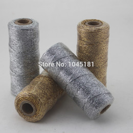 Wholesale rope spools - ipalmay 3pcs Gold Silver Shiny Packaging Rope Twine, 12ply(110yard Spool) Kid's Birthday Party Decorated Bakers Twine