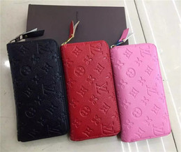 Wholesale Pull Leather - Free Shipping New Woman Selling Pu Single Pull Purse Clutch Bag Wallet Card Holder 3 Colors