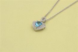 Wholesale Aquamarine Pendants Sterling Silver - Chengsheng 2017 new pendant natural Aquamarine 18K Gold and inlaid with Diamond multicolored Ocean Star clavice Necklace