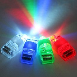 Doigts laser en Ligne-Wholesale-OP-Free Shipping 100pcs / lot LED Party Light Laser Finger Light / Finger Beam Colorful Light Party Décorations sans colis