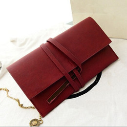 Wholesale Leather Drawstring Purse - Wholesale-Holiday Sale 2015 New European style Women Ladies Day Clutch Purse Long Leather bags Drawstring Wallet Purses Evening Bags Hot