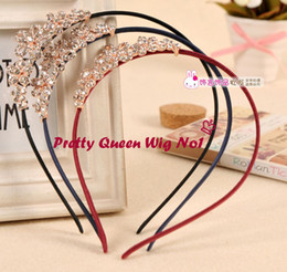 Wholesale Hair Supplies Queens - Free Shipping Child Crystal Queen Crown Hairbands 2015 Cute Child Party Decorations Headbands Party Supplies Hair Jewelry Accessories