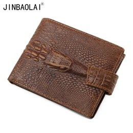 Wholesale crazy price - Wholesale- Brand Men Wallets Dollar Price Purse Crazy Horse Leather Men Wallets with Coin Pocket Crocodile Pattern Card Holder Purses