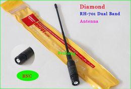 Wholesale Bnc Diamond Antenna - Wholesale-2pcs lot RH701 Wide band High gain antenna Diamond RH-701 BNC For walkie talkie Vertex IC-V85 IC-V82 HX-320 TK 100