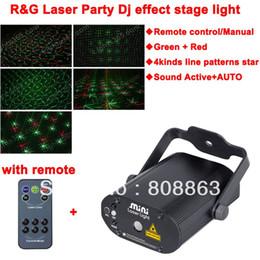 Wholesale Laser Line Green - 2015 new line star Pattern Remote projector adjustable Green Red Laser Stage lighting dsico Dance Party DJ Light Show d36