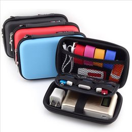 Wholesale S Gadgets - Wholesale- Mobile Kit Case High Capacity Storage Bag Digital Gadget Devices USB Cable Data Line Travel Insert Portable Digital Data Packet