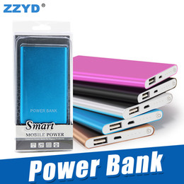 Wholesale Pc Chargers - ZZYD Portable Ultra thin slim powerbank 4000mah charger power bank for S8 mobile phone Tablet PC External battery