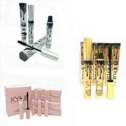 Wholesale Hot Pink Mascara - Hot Kylie Mascara Birthday Gold Box I want It All Pink Box Holiday Siliver Magic Thick Slim Waterproof Mascara Black color
