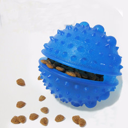 Equipo de comida online-Entrenamiento de mascotas Juguetes Teddy Dog and Cat Chew Leakage Contenedor de alimentos Juguetes Pet Balls Agility Equipment