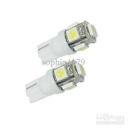Wholesale high power led lamp price - Factory Price 500 PCS T10 194 168 W5W 5050 5 smd 5LED High Power 5 LED Light Bulb Width Lamp Interior Light