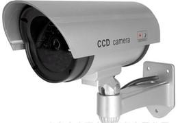 Wholesale Surveillance Cameras Indoor Bullet - 2015 Wireless Home Surveillance Security Dummy Camera Fake IR Simulation Camera Waterproof LED Flashing Indoor Outdoor Bullet CCTV