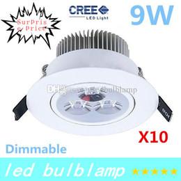 Wholesale 12v Ceiling Fixture - 9W CE RoHS 3 Year Warranty 3x3W 12V 110V 220V 85-265V LED Ceiling Light Lamp Recessed Lighting Fixture For Living Room