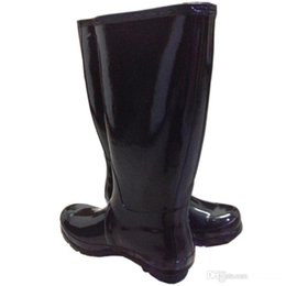 Wholesale Tall Waterproof Boots Women - Women RAINBOOTS fashion Knee-high tall rain boots waterproof welly boots Rubber rainboots water shoes rainshoes 11 colors top quality