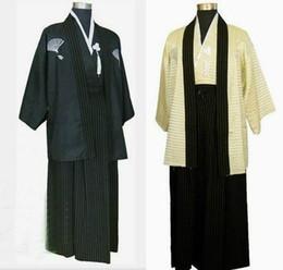 Wholesale Japanese Kimono Dresses - Large landowners samurai costume kimono costume clothing photographed portrait Japan Japanese kimono dress for men