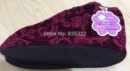 Wholesale Nonslip Sock Shoes - Wholesale-2015 Free Size Nonslip Winter Warm High Cut Embossed Flower Prayer Muslim Shoe Islamic Floor Socks Free Shipping Z01