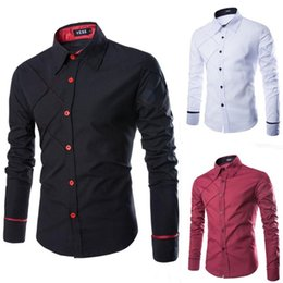 Wholesale New Shirts Patterns For Men - New Style Anti Wrinkle Checked Pattern Long Sleeve Turn Down Collar Slimming Fit Shirt For Men