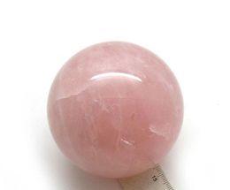 Wholesale Crystal Rose Ornament - Natural Rose Quartz Crystal Sphere Healing Ball 38-40mm (Diameter) + Stand