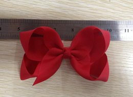 Wholesale Wholesale Hair Prongs - 18%OFF Set of 34 pcs 5 inch boutique hair bows boutique bows baby hair clips 25 colors to choose attached with the single prong alligator c