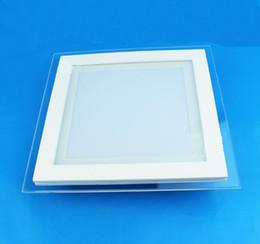 Wholesale Glass Ceiling Lighting - LED pane Lights SMD5730 Recessed Downlight Round Square glass led ceiling panel light Cool Warm white LED lighting 110v 220v CE SAA