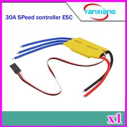 Wholesale Rc Esc Brushless Motor - Chpost 1 pieces 30A Brushless Motor Speed Controller RC BEC ESC T-rex 450 V2 Helicopter Boat ZY-DJI-30A