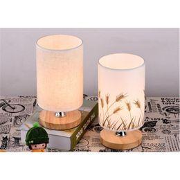 Wholesale Wood Bedside Lamps Bedroom - Solid Wood Base Design Table Lamp Bedside Desk Floor Light Home Cafe Bedroom NEW
