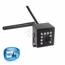 Wholesale Smallest Cmos Camera - Mini IR Camera Indoor 940nm Ir Led Wireless WIFI Ip Camera Pinhole Smallest Night Vision for 1.0 Megapixe 720P HI3518E