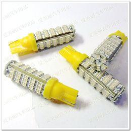 Wholesale Car Headlight Bulb Blue - Hight Power 10PCS T10 LED Car Wedge Headlight Bulb 12V 66 SMD 66 LED Car Light Blub