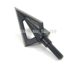 Wholesale Order Arrow - 3pcs aftershock razor hunter hunting bow&arrow broadhead 2 fixed blades 100 grain for compound bow or recurve bow free shiping order<$18no t