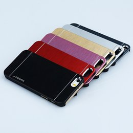Wholesale 5s Inch - MOTOMO Brushed Hybrid Metal + PC Hard Back Case For iPhone 6 4.7 5.5 inch 4 4S 5 5S iPhone6 Plus Samsung Galaxy S3 S4 S5 Note 2 3 LG G3