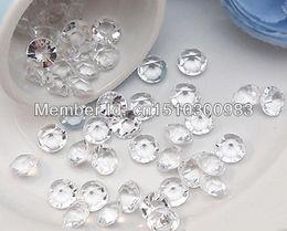 Wholesale Diamond Confetti 2ct - Wholesale-500PCS Top Faux Acrylic APPLE GREEN 2ct(8mm) Diamond Confetti Wedding Party Table Scatter Decoration ,Wedding Favors Supplies