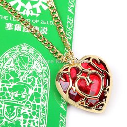 Wholesale Legend Zelda Jewelry - The Legend of Zelda Skyward Sword Heart Container Necklace Cosplay Pendant Jewelry Necklace with Retail Box ANPD1920