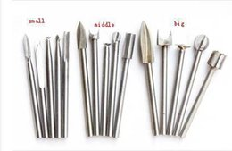 Wholesale Wood Chisel Wholesale - 15pc   lot Free shipping! Carved wood chisel woodworking suit 3mm cutter drill grinding head electric grinding carving tools order<$18no tra