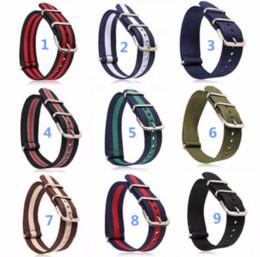 2019 22mm sangle zulu 10 pcs 18 20 22mm Mince Ballistic Nylon militaire Bracelet Durable Toile Sports Zulu Nato Montre-Bracelet Bande G10 Bracelet Livraison Gratuite